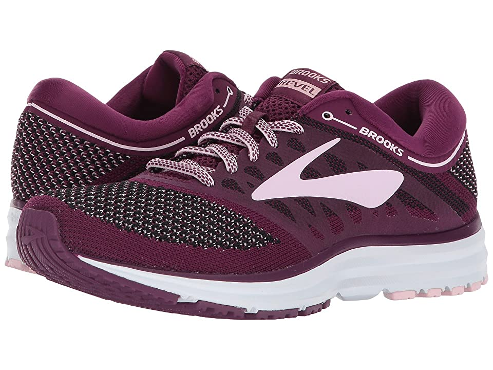 Brooks Revel (Plum/Pink/Black) Women