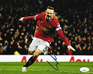 Signed Rooney Picture - England Manchester United 8x10 Man U 2 - JSA Certified - Autographed Soccer Photos