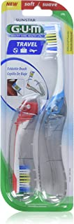 GUM Travel Toothbrush Soft - 2 each, Pack of 3