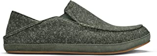 OluKai Moloa Hulu Men's Wool-Blend Slippers, Soft & Heathered Knit Slip On Shoes, Suede Leather Foxing for Maximum Comfor...
