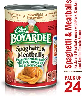 Chef Boyardee Spaghetti and Meatballs, 14.5 oz, 24 Pack