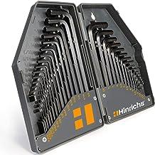 Hinrichs sexkant sats tum och metrisk 30 delar - Inre sexkantsnyckel set - 0,7 till 10 mm och 0,028 till 3/8 tum - Univers...