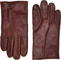 Tabbed Splice Vent Leather Gloves with Conductive Tips