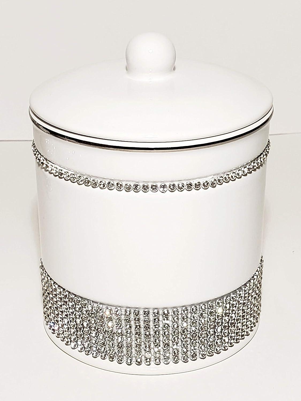 Bella Lux Luxury Rhinestone Bathroom Rare Canister Accessorie shop Ceramic