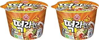 Ottogi Rice cake ramen spicy, Instant cup noodle 140g (pack of 2) 오뚜기 떡라면 매운맛