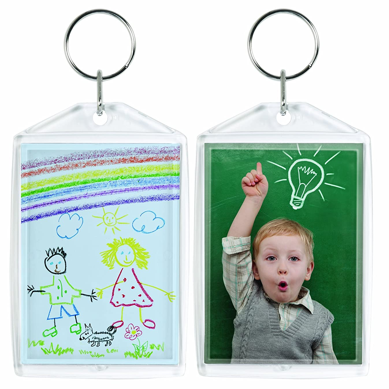 Acrylic Photo Snap-In Keychain - 25 Pack (2