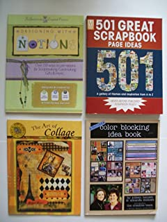 Scrapbooking (Set of 4) Designing with Notions; Scrapbook Page Ideas; Collage; Color Blocking