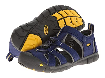 KEEN Kids Seacamp II CNX (Little Kid/Big Kid) (Blue Depths/Gargoyle) Kids Shoes