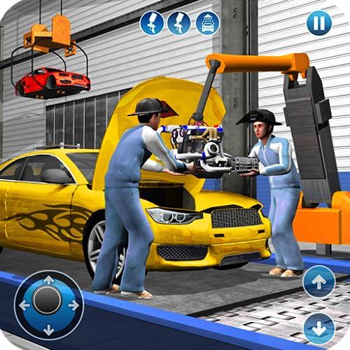 Sport Auto Hersteller Fabrik 2018: Auto Mechaniker Simulator & Auto Erbauer Spiele
