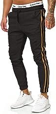 OneRedox Herren | Jogginghose | Trainingshose | Sport Fitness | Gym | Training | Slim Fit | Sweatpants Streifen | Jogging-Hose | Stripe Pants | Modell 1226