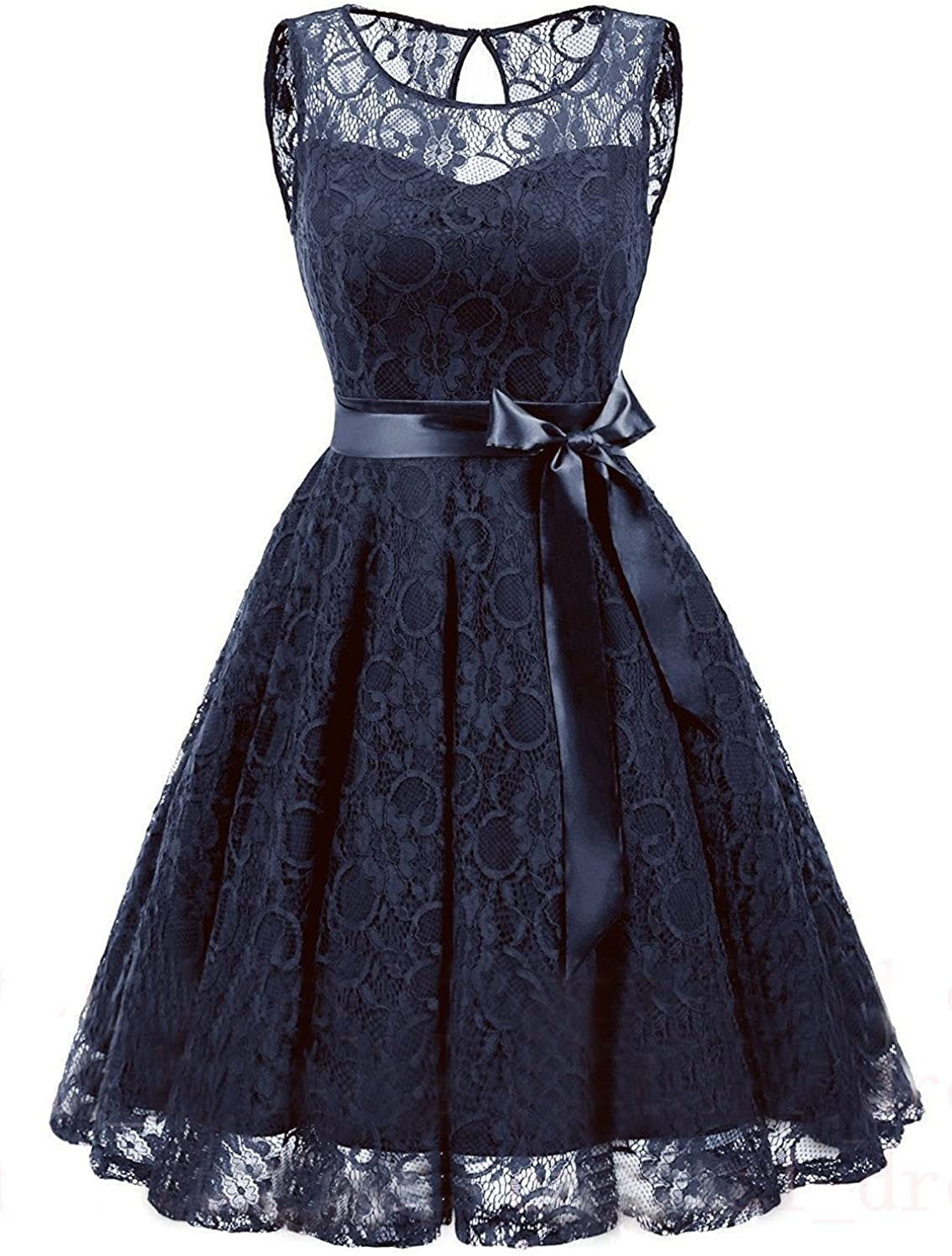 Future Girl Women's Formal Short Floral Lace Swing Bridesmaid Evening Party Prom Dresses