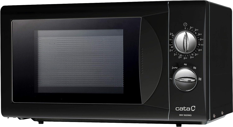 Cata Microondas independiente | Modelo MM 5020M BK | Capacidad de 20 litros | 5 niveles de potencia | Acabado negro | 50 cm de ancho