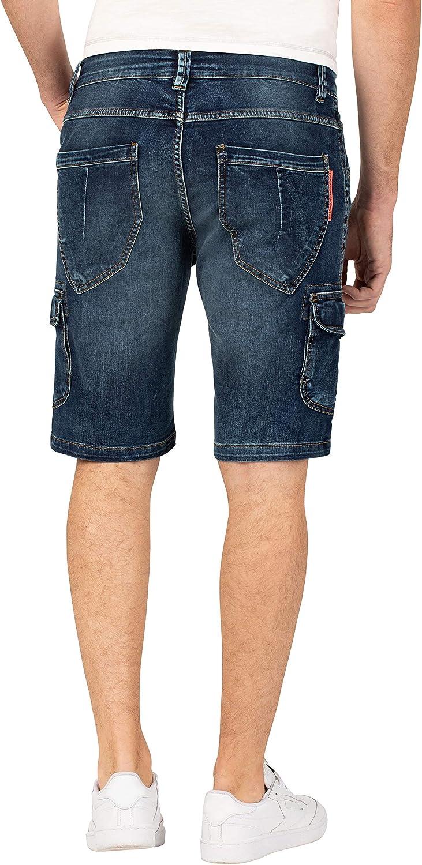 Timezone Regular Rykertz Shorts Homme Bleu (Second Hand Wash 3898)