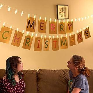 Art Street 24 LED Photo Clips String Lights (Warm White, 4 Meter) - Set of 1