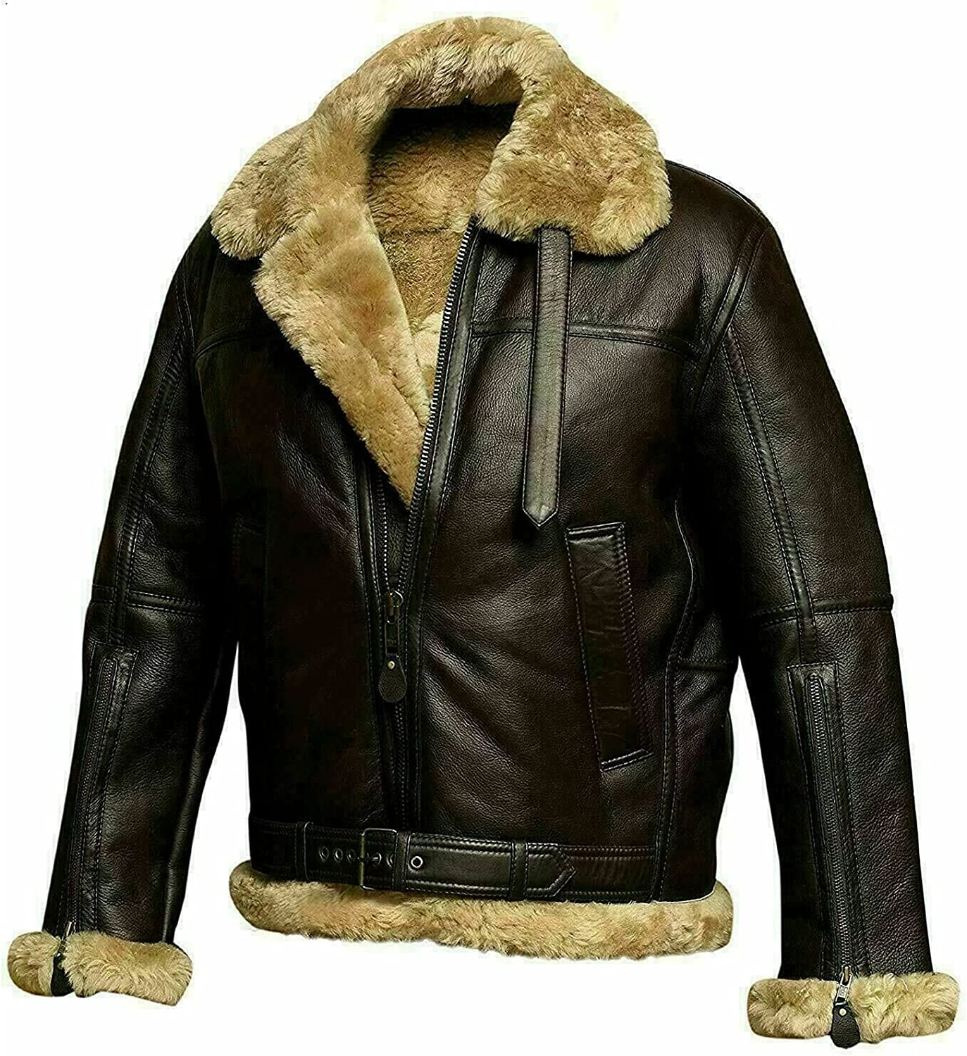B3 Bomber Shearling Leather Store Jackets Aviation Raf Brand new P Flying Flight