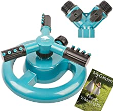 MyGarden Lawn Sprinkler Automatic Garden Water Sprinklers Lawn Irrigation System 3600 Square Feet Coverage
