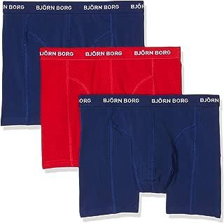 Bjorn Borg 3-Pack Classic Logo Men's Boxer Trunks, Blue/Red/Blue