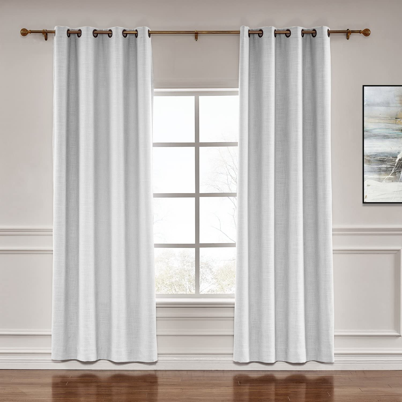 TWOPAGES 2 Panels 贈呈 Cotton Linen Curtain 情熱セール Curtai Drapery Decorative