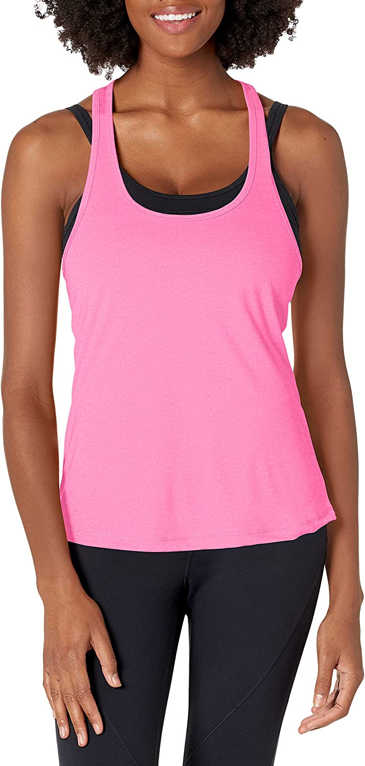 MJ Soffe Juniors Performance Racer Tank, Rosewater Neon Pink, X-Small