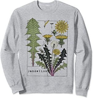 Dandelion Botanical vintage Wildflower Spring Wish Flower Sweatshirt