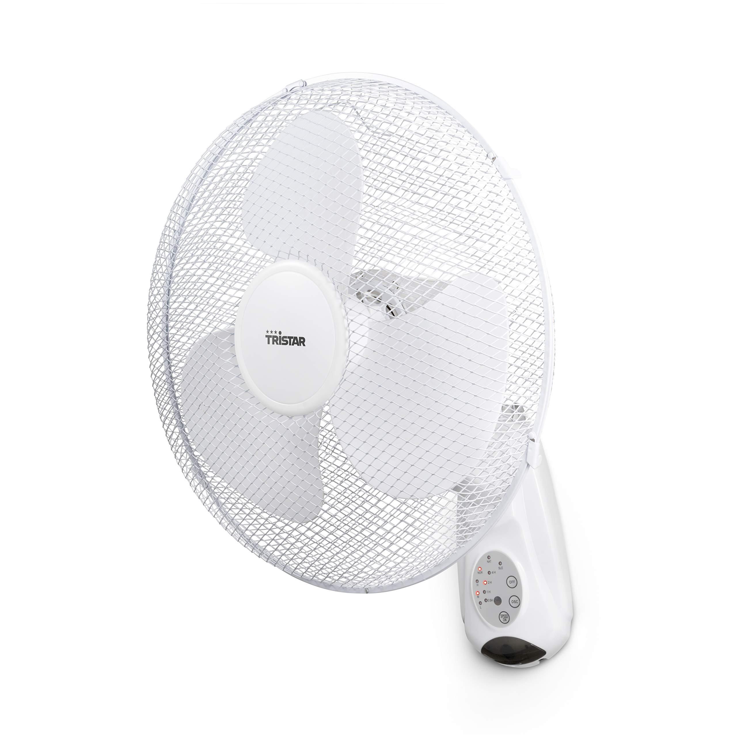 Tristar ve-5875 - ventilador de pared, 40.cm, oscilante, control ...