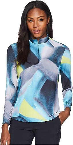 Nori Print Sunsense® 1/4 Zip Long Sleeve Top with 50 UVP