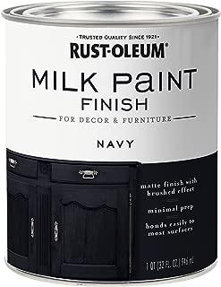 Rust-Oleum 331051 Finish Milk Paint, Quart, Navy