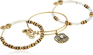 Women's Mom Set of 3 Bangle Bracelet, Rafaelian Gold, Expandable
