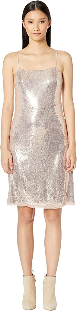 All Over Sequin Spaghetti Strap Dress