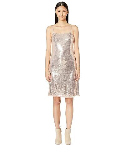 Jason Wu All Over Sequin Spaghetti Strap Dress (Rose Quartz) Women