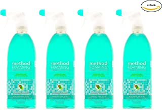 Method Naturally Derived Foaming Bathroom Cleaner Spray, Eucalyptus Mint, 28 FL Oz Mega Value, Pack of 4 (28 x 4, Total 112 Oz)