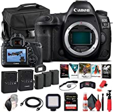 Canon EOS 5D Mark IV DSLR Camera (Body Only) (1483C002) + 64GB Memory Card + Case + Corel Photo Software + 2 x LPE6 Batter...