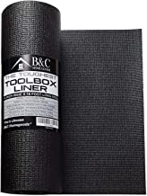 Professional Tool Box Liner and Drawer Liner - Black Non-Slip Shelf Liner Is Perfect for Protecting Your Tools - These Thick Cabinet Liners Are Easily Adjustable to Fit Any Space (16'' x 16 ft)
