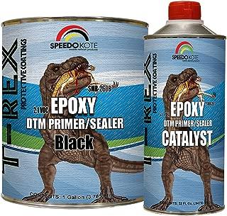 Speedokote Epoxy Fast Dry 2.1 Low voc DTM Primer & Sealer Black Gallon Kit, SMR-260B/261