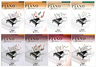 Faber Accelerated Piano Adventures for The Older Beginner Books Set (8 Books) - Book 1 & Book 2: Lesson Books, Theory, Technique&Artistry, Performance
