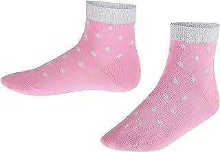 FALKE Socken Glitter Dot Baumwolle Kinder grau blau viele weitere Farben verstärkte Kindersocken mit Muster atmungsaktiv dünn bunt und mit Punkte und Glitzer 1 Paar