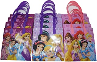 """Disney Princess Party Favor Goodie Gift Bag - 6"""" Small Size (12 Packs)"""