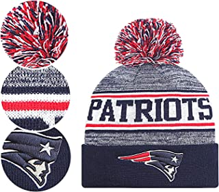 NFL Fans Hats Winter Knit Cuffed Stylish Beanie Knit Cap Sport Hats Fashion Toque Cap for Gift for Unisex Men Women Indoor and Outdoor, Festival, Holiday, Celebration, Parties, Bar
