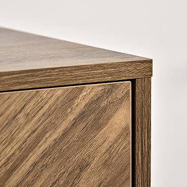 HOMCOM Sideboard Accent Storage Cabinet Double Door Kitchen Cupboard with 3 Level Adjustable Shelf, for Kitchen, Entryway, Li