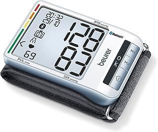 Beurer BC85 Tensiómetro de Muñeca, Plata, PantallaLCD, Función Bluetooth, Memoria 2 x 60 Mediciones
