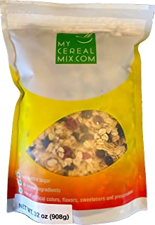 50% Nuts, Fruits and Seeds Muesli - No Sugar Added All Natural Muesli Cereal (Blueberry & Raspberry)