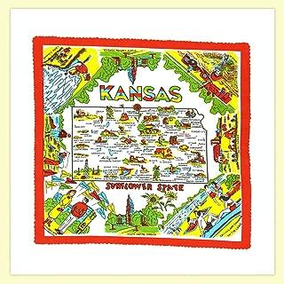 The Red & White Kitchen Co. Kansas State Souvenir Dish Towel