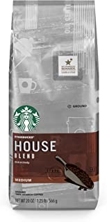 Starbucks House Blend Medium Roast Ground Coffee, 20 Ounce (Pack of 1) Bag
