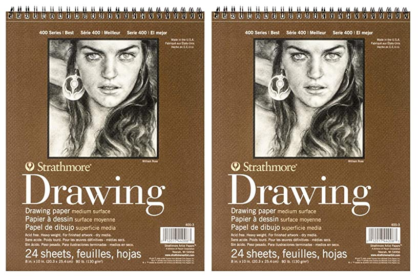 Strathmore STR-400-3 24 Sheet No.80 Drawing Pad, 8 by 10
