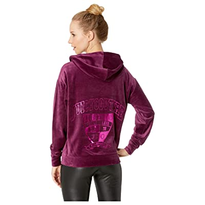 Juicy Couture Velour Collegiate Luxe Hooded Pullover (Nightingale) Women