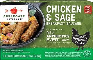 Applegate Naturals Chicken and Sage Breakfast Sausage, 7 oz (2 Pack)