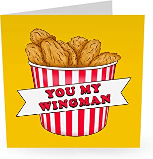 """Central 23 - Funny Anniversary Card - """"You My Wingman"""" - Witty Pun - Cute Greeting Card For Husband Boyfriend Men Him Fian..."""