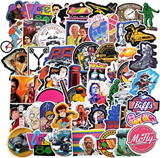 Decal Stickers 57 PCS Back to The Future Laptop Sticker Waterproof Vinyl Stickers Car Sticker Motorcycle Bicycle Luggage Decal Graffiti Patches Skateboard Sticker (Back to The Future)
