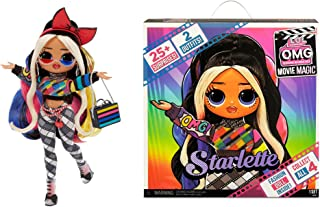 LOL Surprise OMG Movie Magic Starlette Fashion Doll with 25 Surprises Including 2 Fashion Outfits, 3D Glasses, Movie Acces...