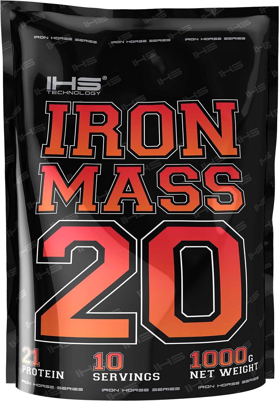 Iron Horse Gainer Iron Mass Paquete de 1 x 1000g Ganancia de Masa Carbohidratos Con Vitaminas y Aminoácidos (Vanilla)